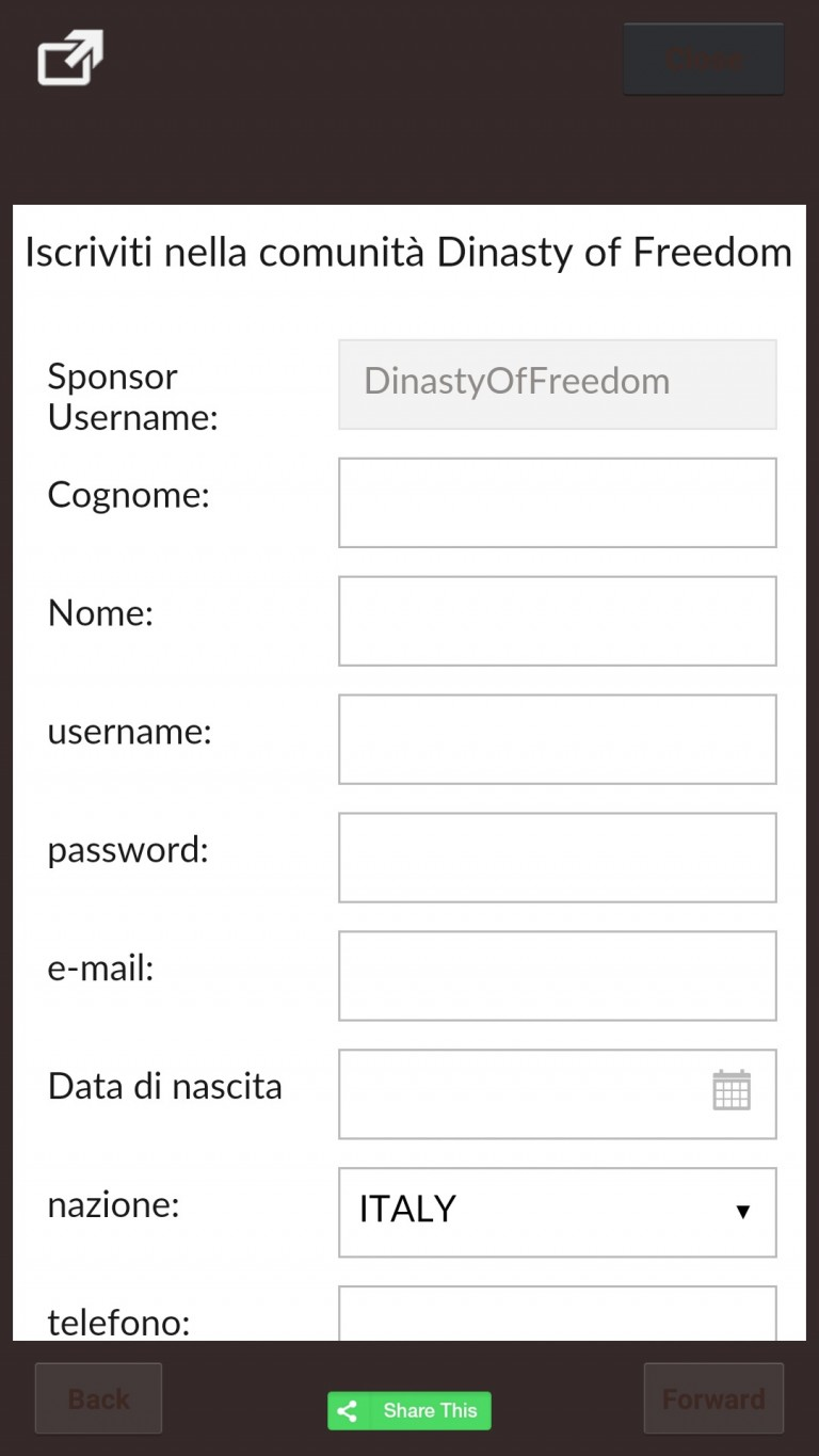 Dinasty of Freedom sponsorizza con APP
